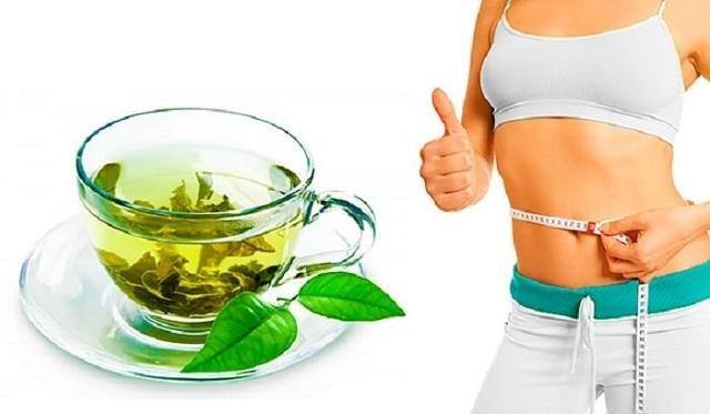 Giảm cân bằng lá trà xanh