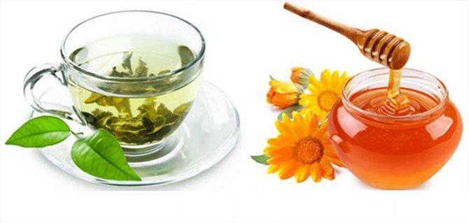 Giảm cân bằng nước trà xanh và mật ong