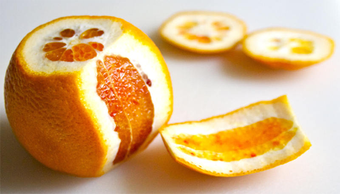 chữa hóc xương cá bằng cách sử dụng vỏ cam chanh