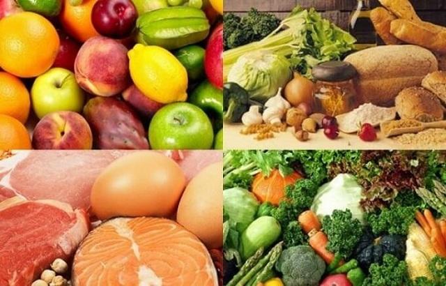 Chế độ ăn với đầy đủ dưỡng chất từ các loại thực phẩm sạch. Nguồn ảnh: Internet
