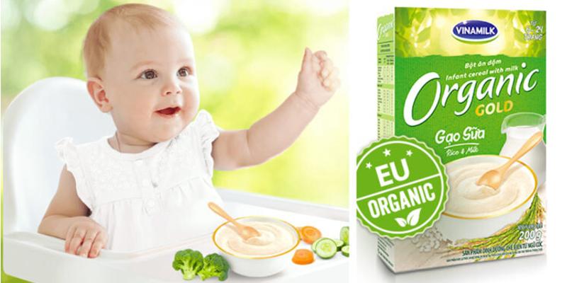 Bột ăn dặm Organic giúp bé phát triển khỏe mạnh