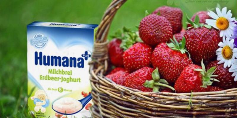 Bột ăn dặm Humana, thực phẩm dinh dưỡng tốt nhất dành cho bé