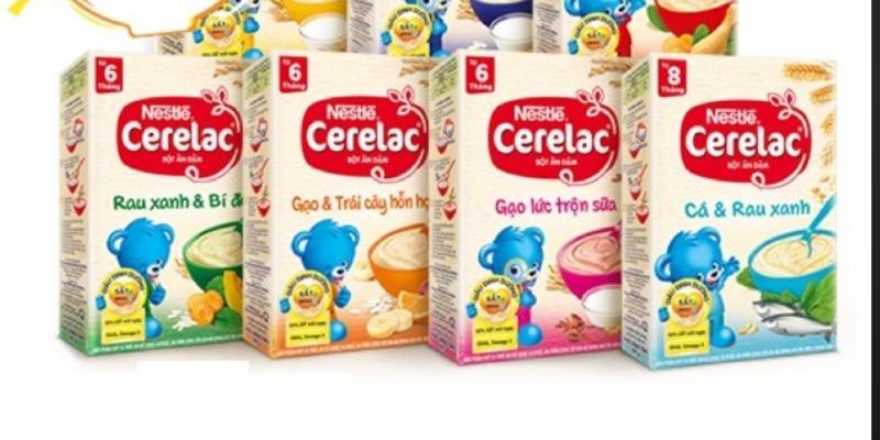 Bột ăn dặm Nestle Cerelac cho bé