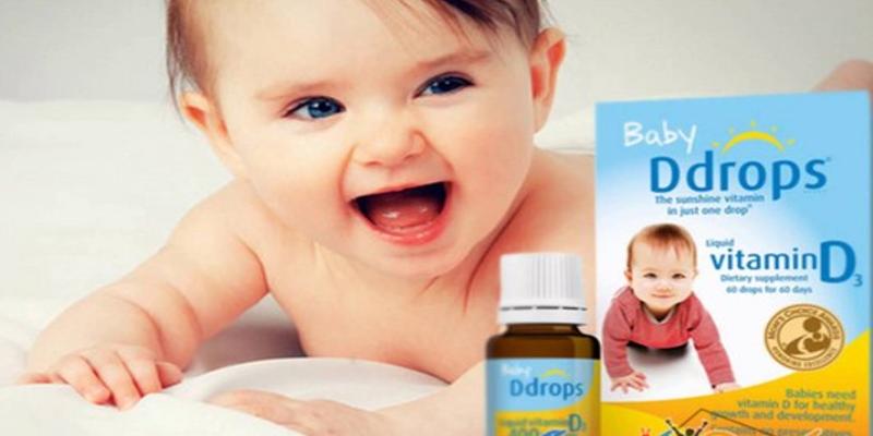 Hướng dẫn sử dụng vitamin d3 ddrops cho bé