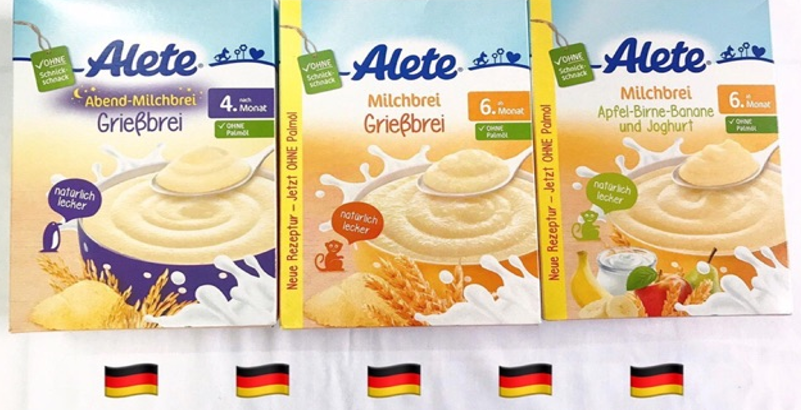 Lựa chọn các loại bột ăn dặm của Đức đảm bảo chất lượng