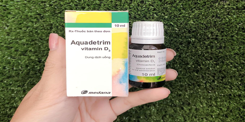 Vitamin d3 aquadetrim được bán rộng rãi trên thị trường