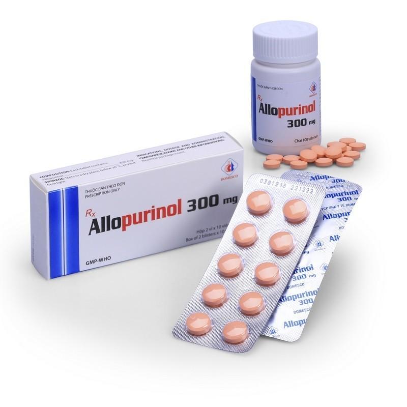 Thuốc Allopurinol được sử dụng phổ biến trong điều trị bệnh gout